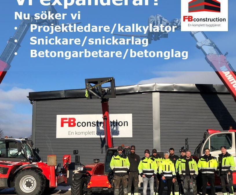 Bli en del av FB Construction AB!