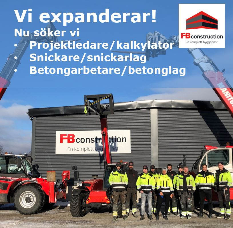 Bli en del av FB Construction AB!